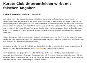 Karateclub Unterentfelden