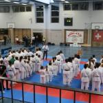 Line-Up der Klubs und Begrüssung am SSKU-Cup